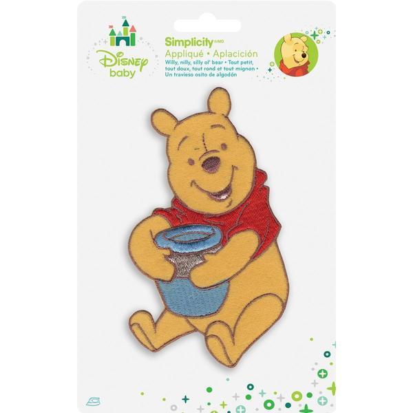 Disney Winnie The Pooh Pooh W/Honey Pot Iron-On Applique -
