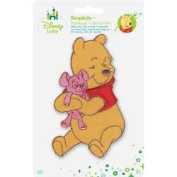Disney Winnie The Pooh Pooh Hugging Bear Iron-On Applique -