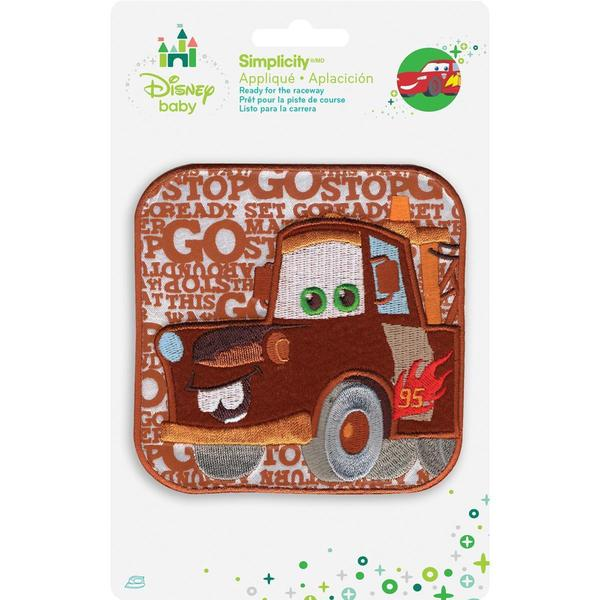 Disney Cars Mater Words Iron-On Applique -