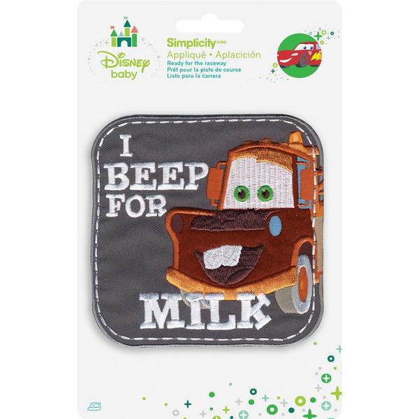 Disney Cars Mater I Beep For Milk Iron-On Applique -