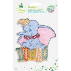 Disney Dumbo Sitting On Name Iron-On Applique -