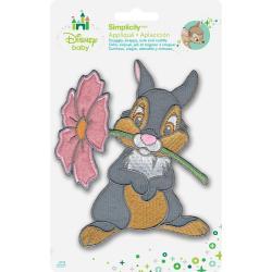 Disney Bambi Thumper W/Flower Iron-On Applique -