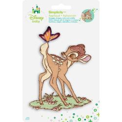 Disney Bambi W/Butterfly Iron-On Applique -