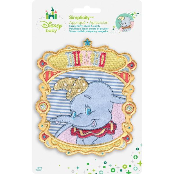 Disney Dumbo Portrait Iron-On Applique -