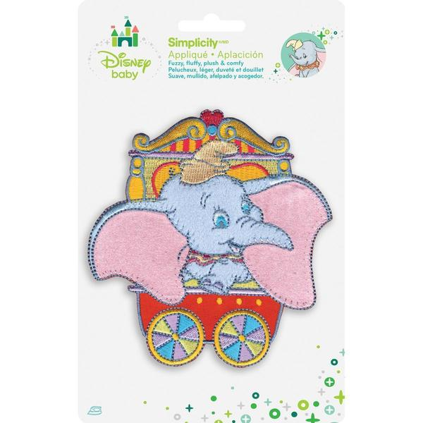 Disney Dumbo In Red Circus Car Iron-On Applique -