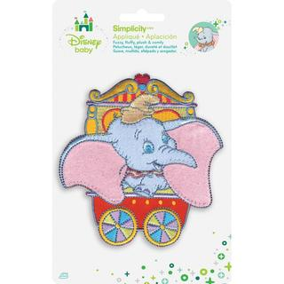 Disney Dumbo In Red Circus Car Iron-On Applique -