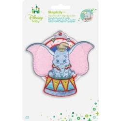 Disney Dumbo Sitting Iron-On Applique -