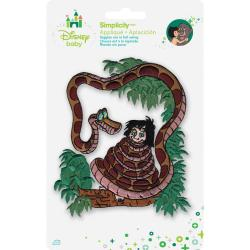 Disney Jungle Book Kaa With Mowgli Iron-On Applique -