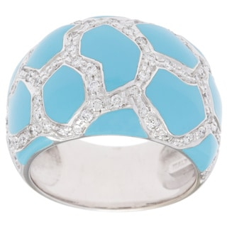 Roberto Coin 18k White Gold 3/4ct TDW Diamond and Turquoise Estate Ring (G-H, SI)