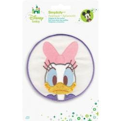 Disney Mickey Mouse Daisy In Circle Iron-On Applique -