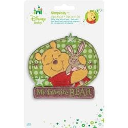 Disney Winnie The Pooh My Favorite Bear Iron-On Applique -