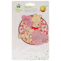 Disney Winnie The Pooh Let's Cuddle Iron-On Applique -