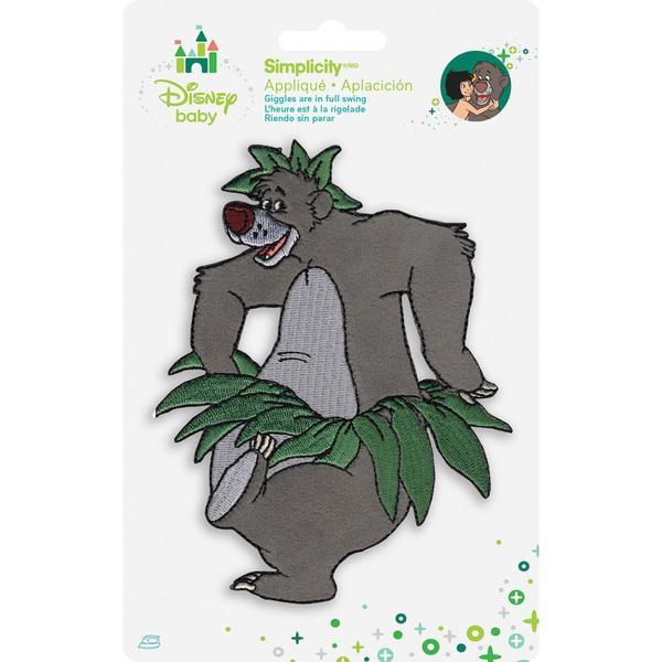 Disney Jungle Book Baloo Iron-On Applique -