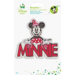 Disney Mickey Mouse Minnie With Name Iron-On Applique -