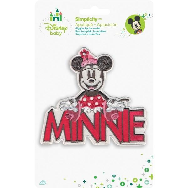 Disney Mickey Mouse Minnie With Name Iron-On Applique -