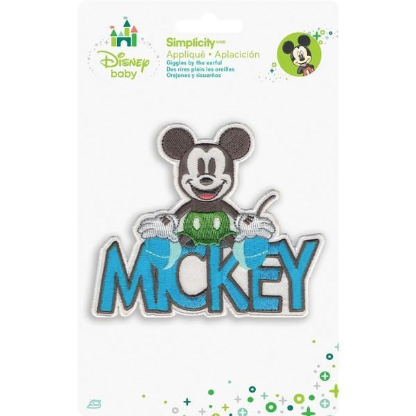 Disney Mickey Mouse Mickey With Name Iron-On Applique -