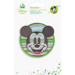 Disney Mickey Mouse Mickey W/Stripes Iron-On Applique -