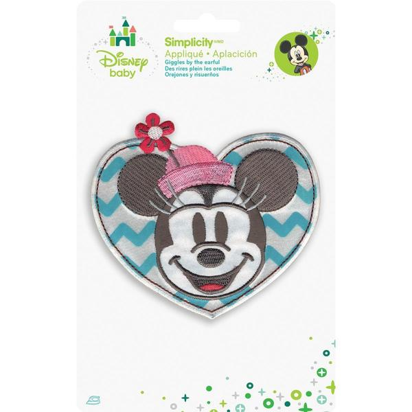 Disney Mickey Mouse Minnie In Heart Iron-On Applique -