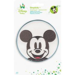 Disney Mickey Mouse Mickey In Circle Iron-On Applique -