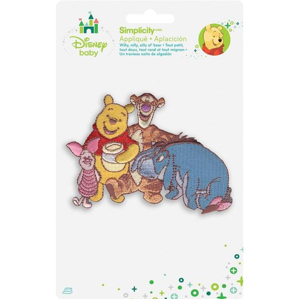 Disney Winnie The Pooh Pooh & Friends Iron-On Applique -