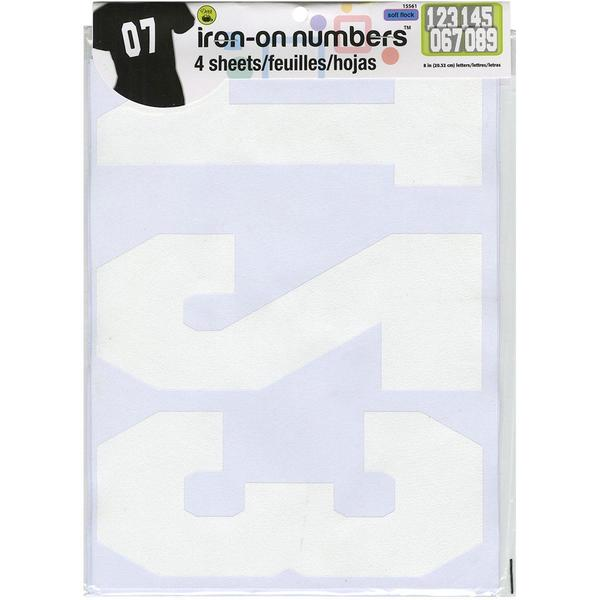 Soft Flock Numbers 8 Athletic - White