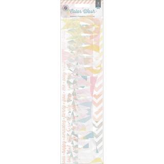 Color Wash Vellum Borders 12 8/Pkg - Pennants