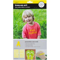 Letter Transfers 1 2 Sheets/Pkg - Neon Yellow