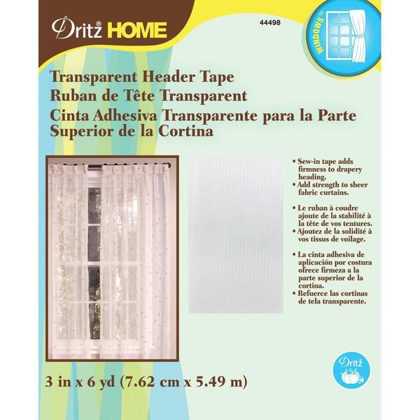 Transparent Header Tape 3 X6 Yards -