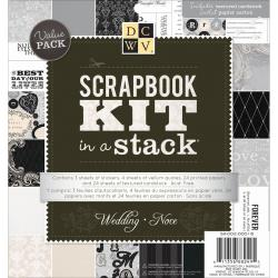 Scrapbook Kit In A Stack 8 X8 - Wedding