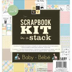 Scrapbook Kit In A Stack 8 X8 - Baby (Boy & Girl)