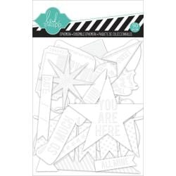 Color Magic Resist Cardstock Ephemera Accents 91/Pkg -