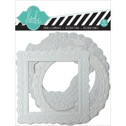 Color Magic Pressed Resist Paper Frames 4/Pkg - Embossed