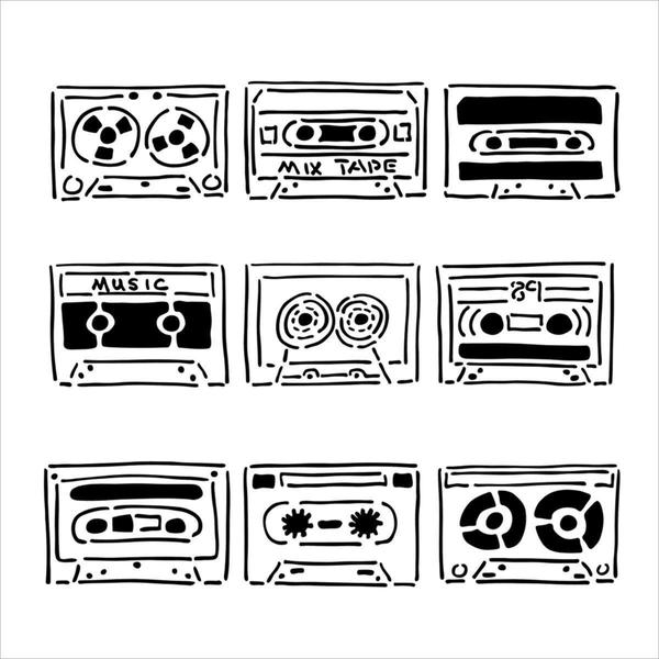 Crafter's Workshop Templates 6 X6 - Mix Tape