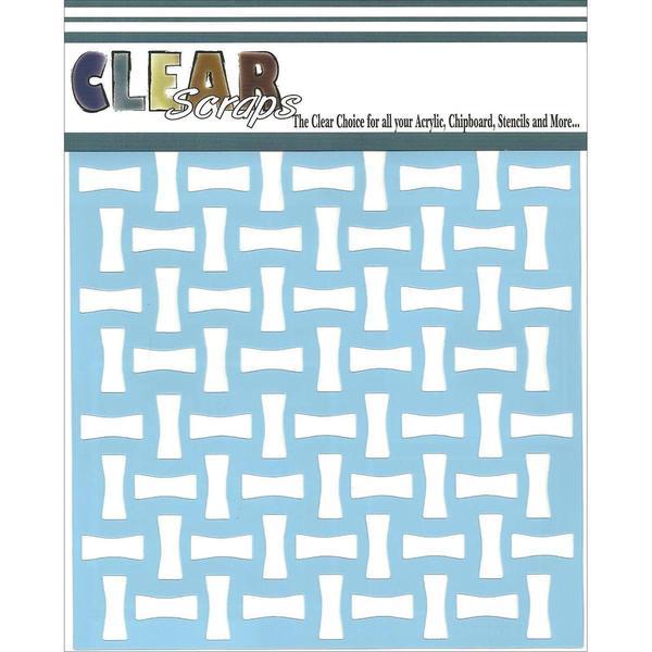 Clear Scraps Stencils 6 X6 - Bone