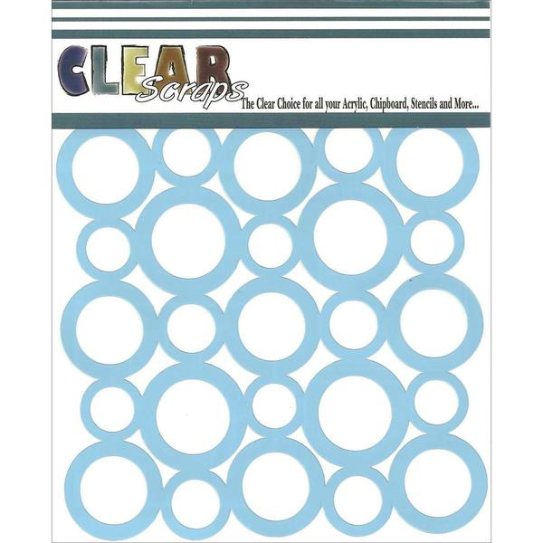 Clear Scraps Stencils 6 X6 - Circle