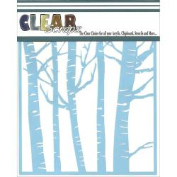 Clear Scraps Stencils 6 X6 - Forest