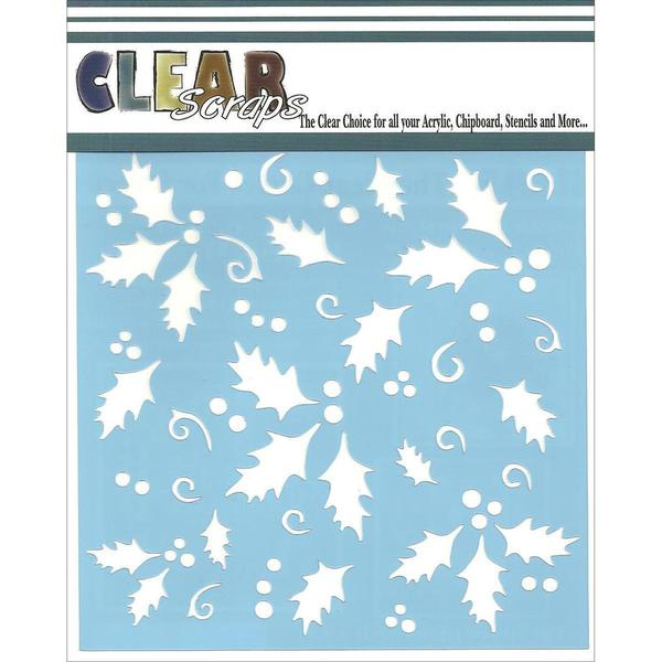 Clear Scraps Stencils 6 X6 - Holly