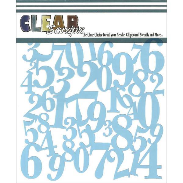 Clear Scraps Stencils 6 X6 - Numbers