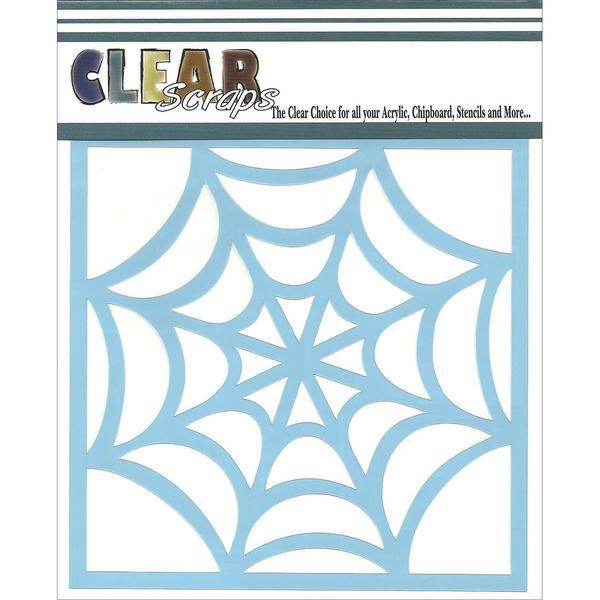 Clear Scraps Stencils 6 X6 - Spider Web