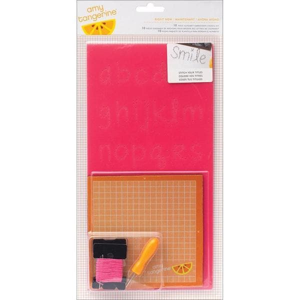 Cut & Paste Embroidery Stencil Kit - Right Now Alphabet