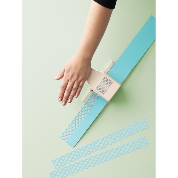 Martha Stewart 2-In-1 Deep Edge Punch - Simple Lattice, 1.25 X2