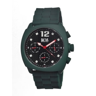 Mos Men's 'Berlin' Black Dial Forest Green Silicone Strap Analog Watch