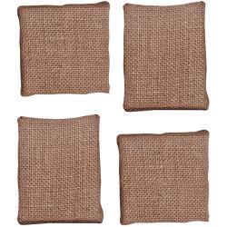 Idea-Ology Mini Bare Burlap Panels 4/Pkg - (2) 3 X3 & (2) 2.75 X3.5