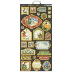 Mother Goose Chipboard Die-Cuts 6 X12 Sheet - Tags 2