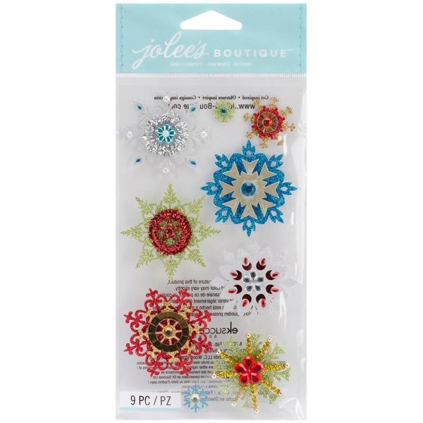 Jolee's Christmas Stickers - Embellished Snowflakes
