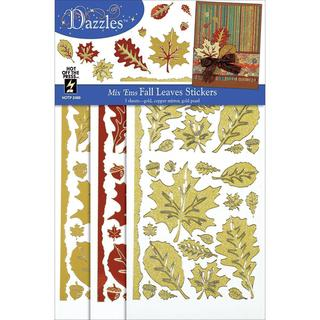 Dazzles Stickers Mixems Tri Color - Fall Leaves