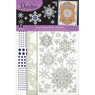 Dazzles Stickers Mixems Tri Color - Snowflake