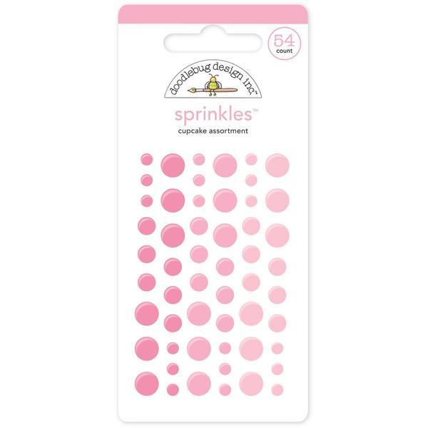 Monochromatic Sprinkles Glossy Enamel Arrow Stickers 54/Pkg - Cupcake