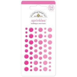 Monochromatic Sprinkles Glossy Enamel Arrow Stickers 54/Pkg - Bubblegum