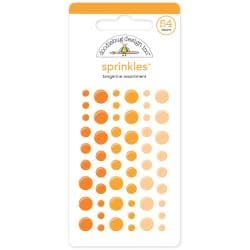 Monochromatic Sprinkles Glossy Enamel Arrow Stickers 54/Pkg - Tangerine